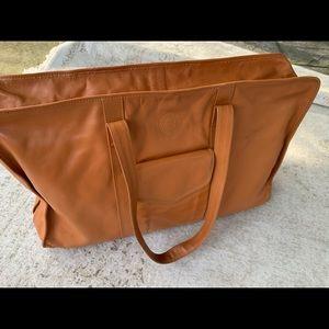 FENDI large leather travel shoulder bag tote